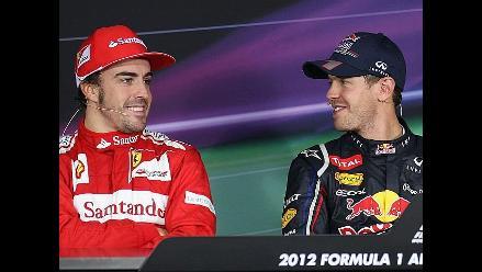 Sebastian Vettel y Fernando Alonso pugnan por el título en la F1