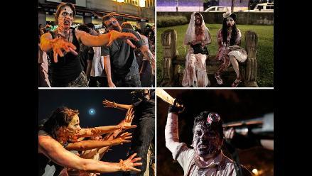 ´Zombies´ desfilaron por las calles del mundo previo a Halloween