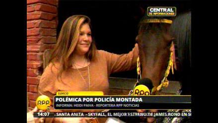 Pesar en el Hipódromo de Monterrico por muerte de yegua de la PNP