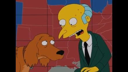 El señor Burns apoya candidatura de Mitt Romney