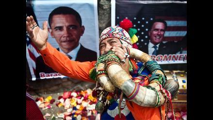 Chamanes peruanos hacen ritual de florecimiento a favor de Obama