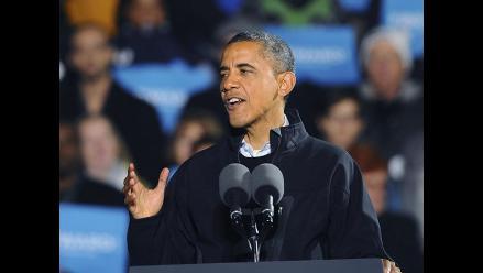 Obama derramó lágrimas en cierre de campaña en Iowa
