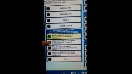 Sujeto votó por Obama pero la máquina eligió a Romney
