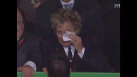 Rod Stewart lloró de alegría por el triunfo del Celtic ante Barcelona