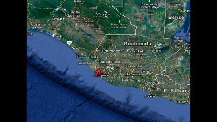 Zona exacta del fuerte sismo en Guatemala
