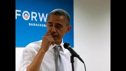 EEUU: Obama emocionado al felicitar a su campaña tras victoria