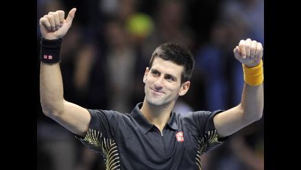 Novak Djokovic venció a Del Potro y va por título de Masters de Londres