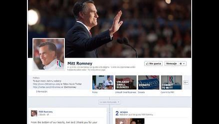 Romney pierde amigos en Facebook tras derrota frente a Obama