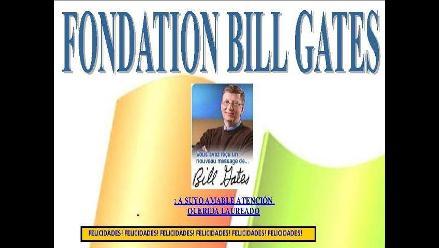 Cuidado con estafas de ´premios´ en nombre de fundación de Bill Gates
