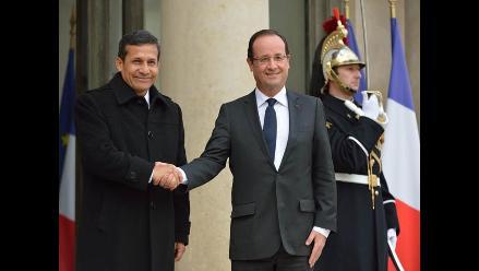 Humala se reunió con François Hollande en el palacio del Elíseo
