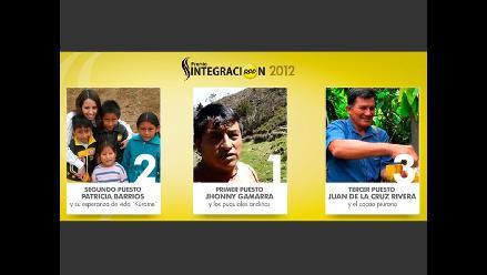 Junín, Lima y Piura ganaron el Premio Integración 2012
