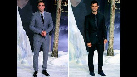 Robert Pattinson y Taylor Lautner, guapísimos en estreno de Amanecer 2