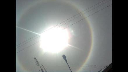 Halo solar adorna el cielo de Arequipa