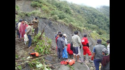Tres viviendas afectadas por deslizamiento de tierra en Huamachuco