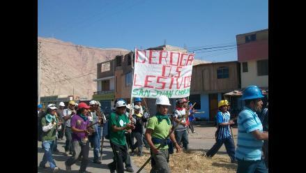 Arequipa: PNP resguarda Ocoña por anunciada huelga de mineros artesanales