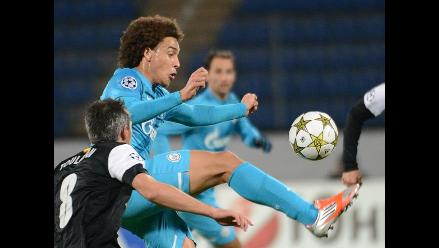 Zenit empató 2-2 con Málaga por el grupo C de la Champions League