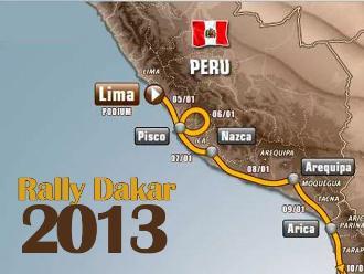 Conozca la ruta del Rally Dakar 2013