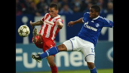 Schalke 04 de Jefferson Farfán ganó y avanza en la Champions League