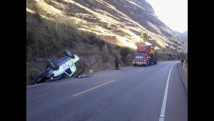 Huancavelica: 4 trabajadores de Agrorural heridos en accidente