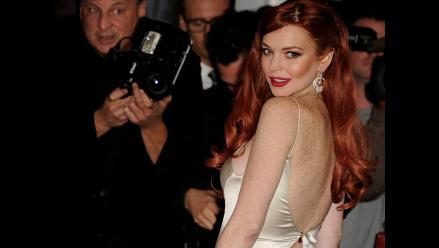 Lindsay Lohan derrocha sensualidad en premiere de Liz & Dick