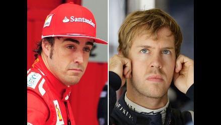 Fernando Alonso quedó quinto y Vettel segundo en pruebas de Interlagos