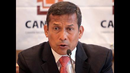Humala: Perú debe tener cuidado con boom de la construcción