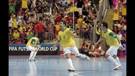 Selección de Brasil de fútbol sala vence a Colombia en amistoso