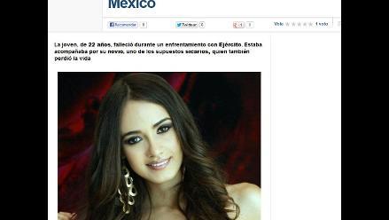 Muere reina de belleza mexicana durante enfrentamiento con narcos