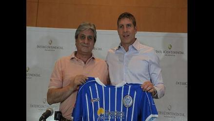 Martín Palermo fue presentado como técnico de Godoy Cruz