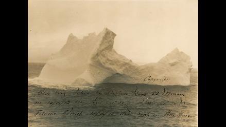 Subastan foto del iceberg que supuestamente hundió al Titanic