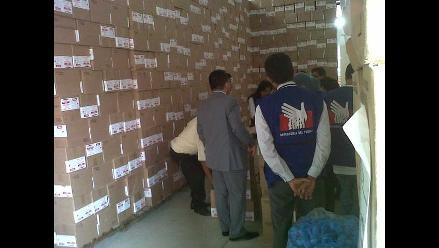 Piura: Inmovilizan 200 cajas del programa Vaso de Leche en Sullana