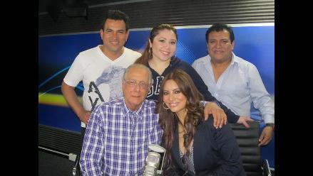 Myriam Hernández visita la cabina de Los Chistosos