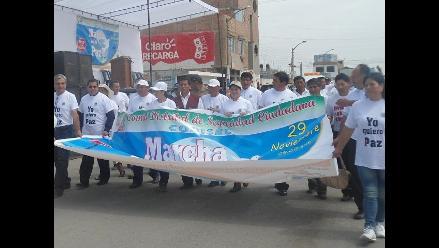 La Libertad: Marchan por la paz ante incremento delincuencial en Chao