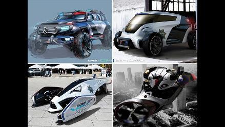 Marcas presentan conceptos de patrulleros futuristas del 2025