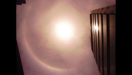 Halo solar deslumbra a limeños