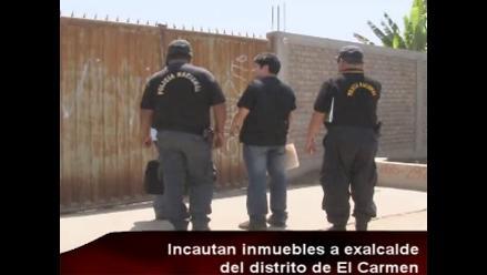 Incautan inmuebles de exalcalde de El Carmen acusado de lavado de activos