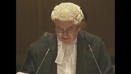 La Haya: alegato de jurista inglés Michael Wood