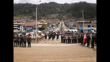 Apurímac: Rinden homenaje póstumo a policías caídos en el