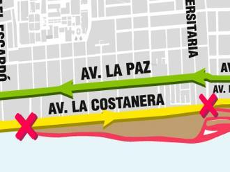 Use vías alternas: Mapa de desvíos por cierre del circuito de playas