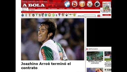 Joazhino Arroé terminó contrato con el Sporting Braga de Portugal