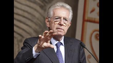 Italia: Monti presentará dimisión tras aprobación de los Presupuestos