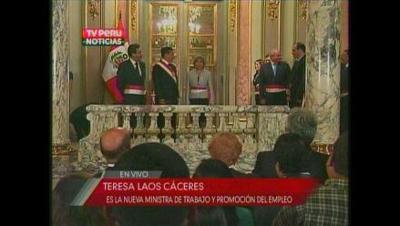 Designan a Teresa Laos Cáceres como nueva ministra de Trabajo