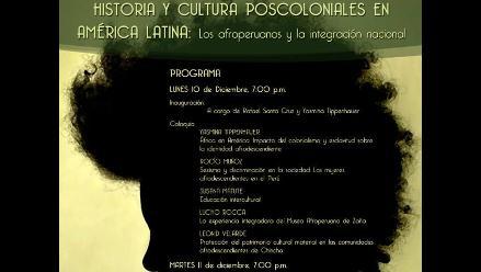 Realizan coloquio sobre los afroperuanos y la integración nacional