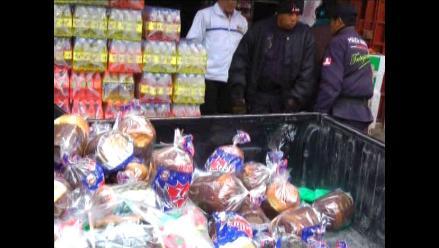 Huancayo: Decomisan 307 panetones sin condiciones sanitarias adecuadas