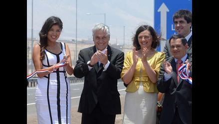 Presidente Piñera piropea a alcaldesa de Antofagasta en Chile