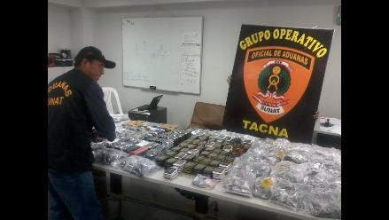 Tacna: Aduanas incauta 343 celulares en la frontera con Chile