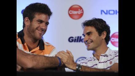 Roger Federer y Del Potro listos para enfrentarse en Argentina
