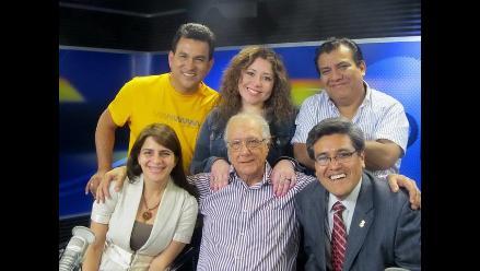 La doctora Sara Abu-Sabbah, el doctor Jorge Abel Salinas y Los Chistosos