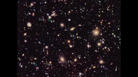 Telescopio Hubble descubre siete galaxias primitivas