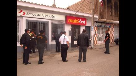 La Libertad: Delincuentes violentan cajero del Banco de la Nación